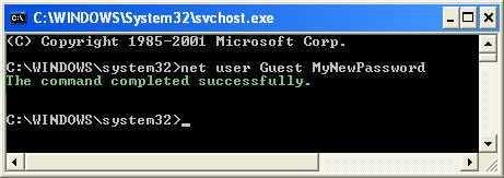Net User Example